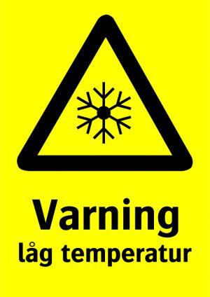 Varning låg temperatur
