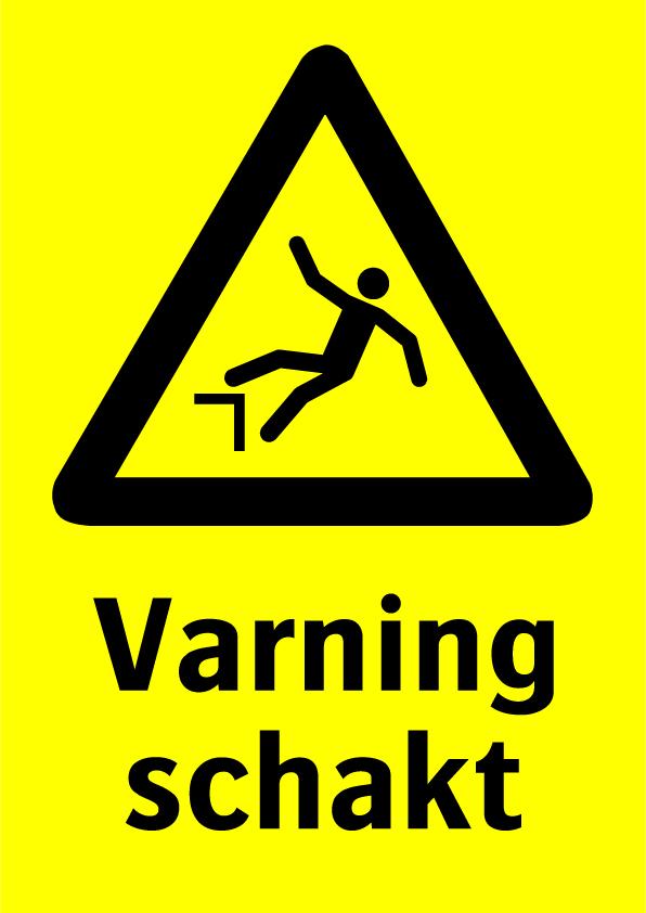 Varning schakt