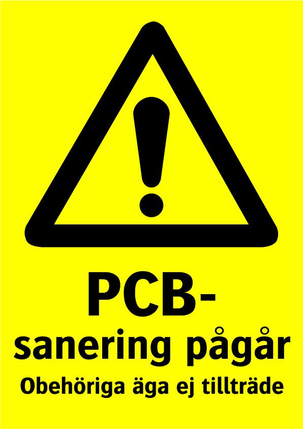 PCB-sanering pågår