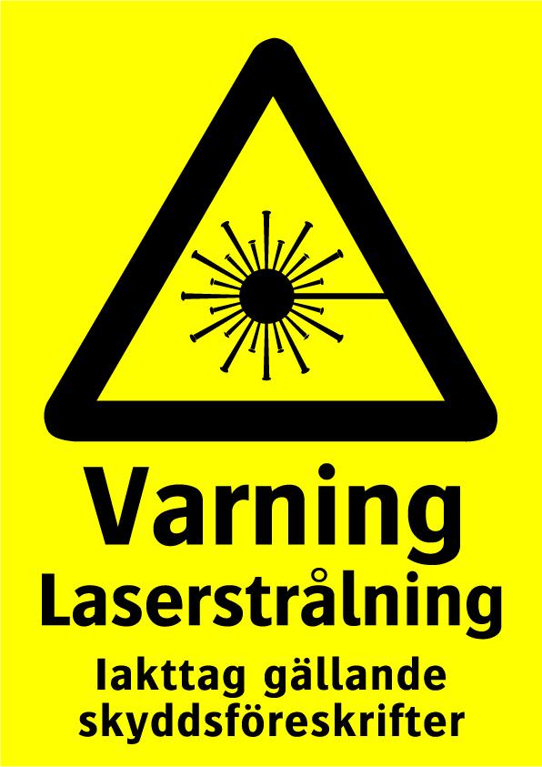 Varning Laserstrålning