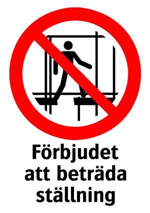 Förbjudet att beräda ställning