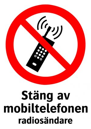 Stäng av mobiltelefonen radiosändare