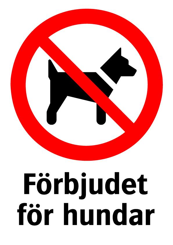 Förbjudet för hundar