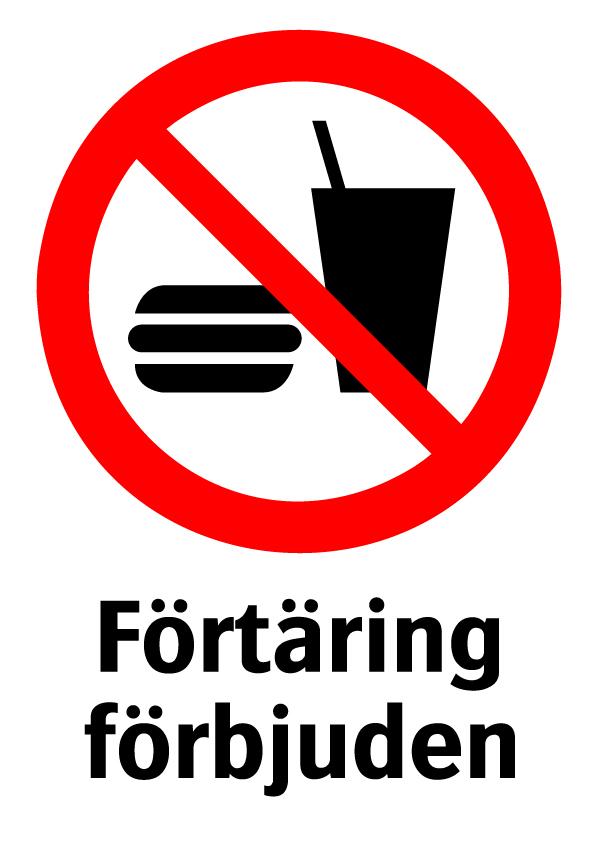 Förtäring förbjuden
