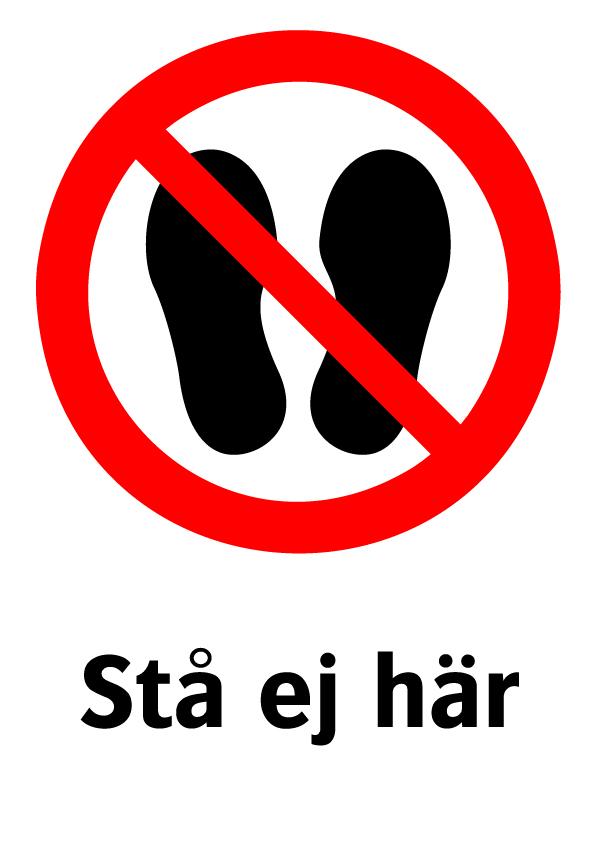 Stå ej här